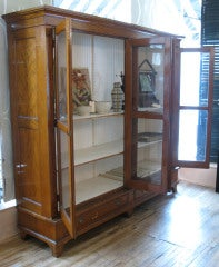 Antique Oak & Glass Collectors Display Case image 3