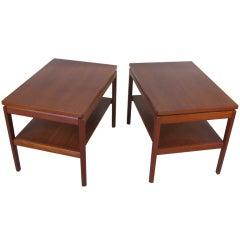 Pair of Danish Teak Nightstand Tables