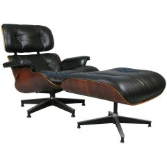 Classic Eames Rosewood 670/671 Lounge Chair & Ottoman