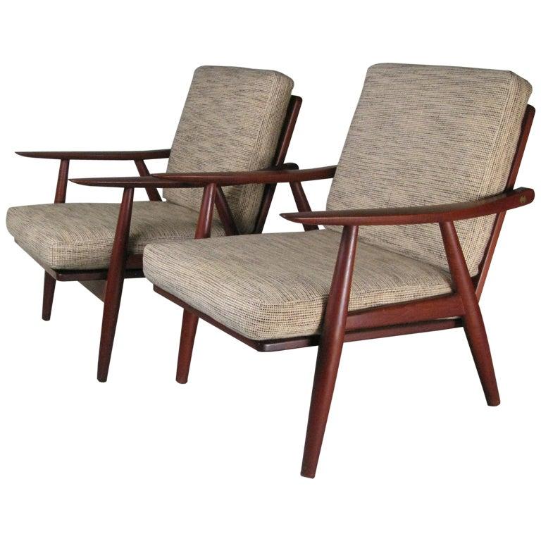 Teak Lounge Chairs by Hans Wegner at 1stdibs