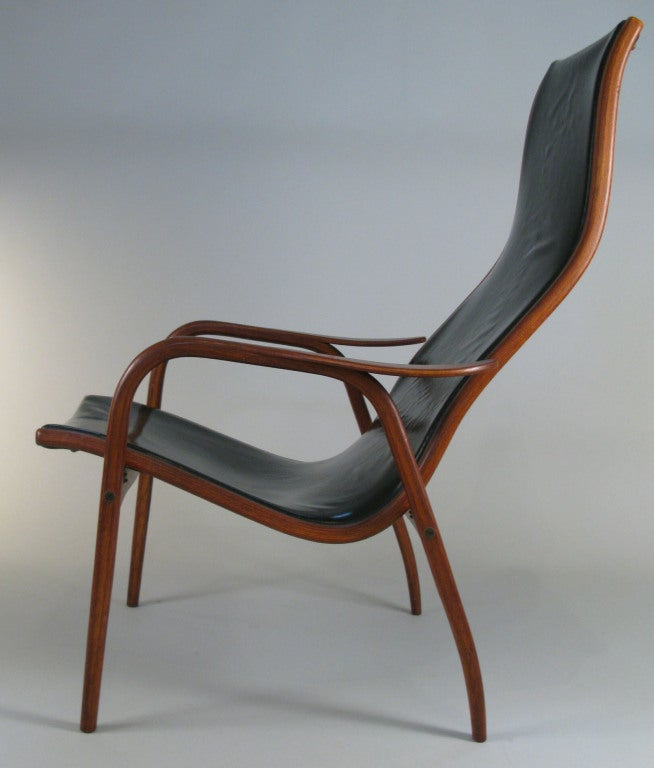 Vintage Lamino Leather Lounge Chair by Yngve Ekstrom at 1stdibs