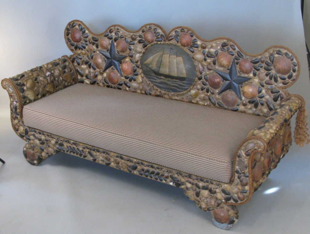 Average Couch Height Nautical Seashell Sofa At 1stdibs