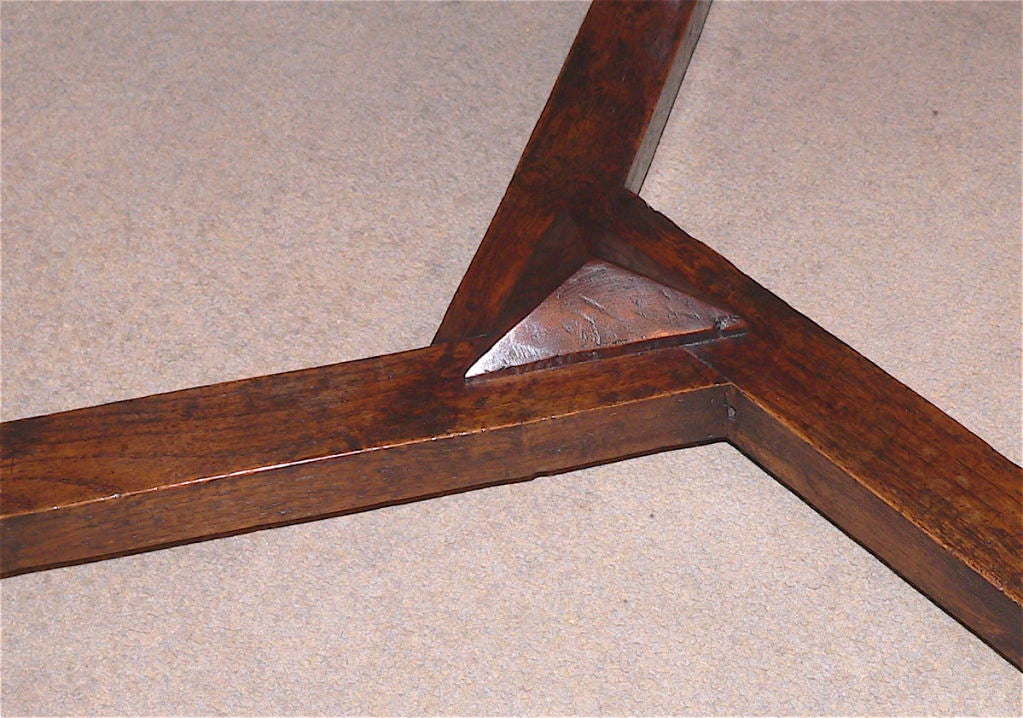 English arts and crafts period cricket table at 1stdibs for Arts and crafts cricket