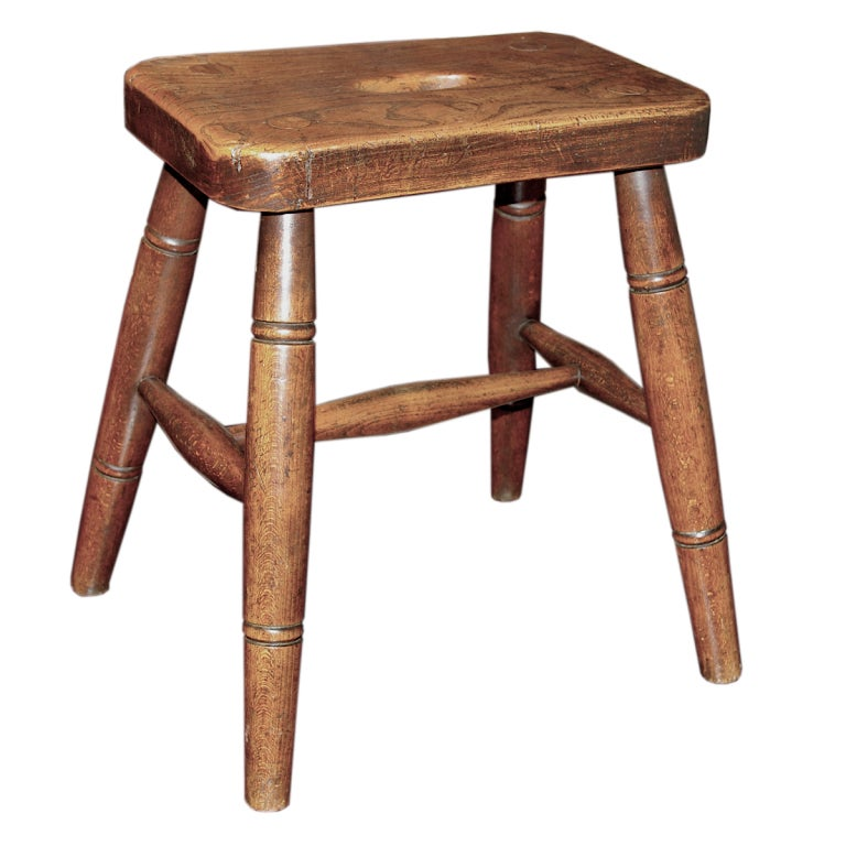 Welsh 19th Century Stool In Ash Wood At 1stdibs