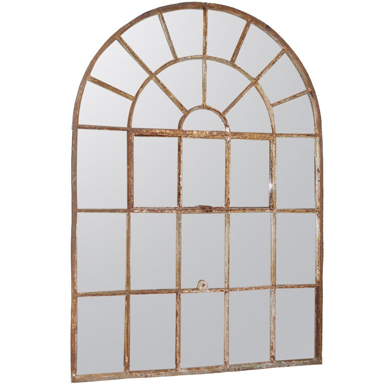 English iron factory window mirror at 1stdibs for Window factory