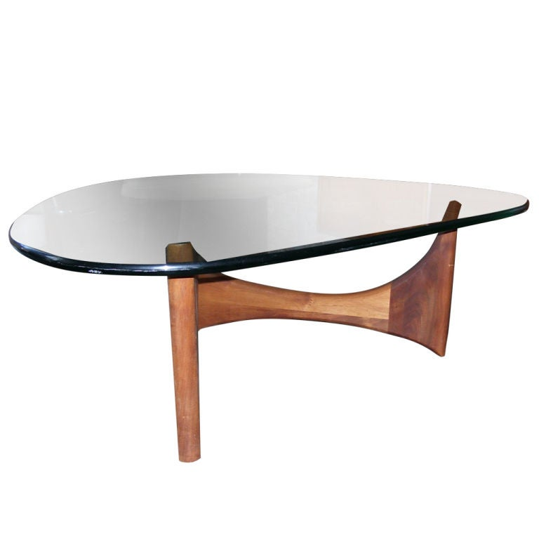 Glass Top Coffee Table Designed By Adrian Pearsall At 1stdibs