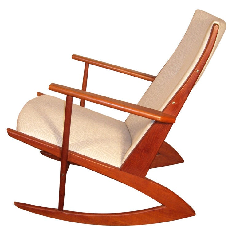 Teak Danish Rocking Chair At 1stdibs
