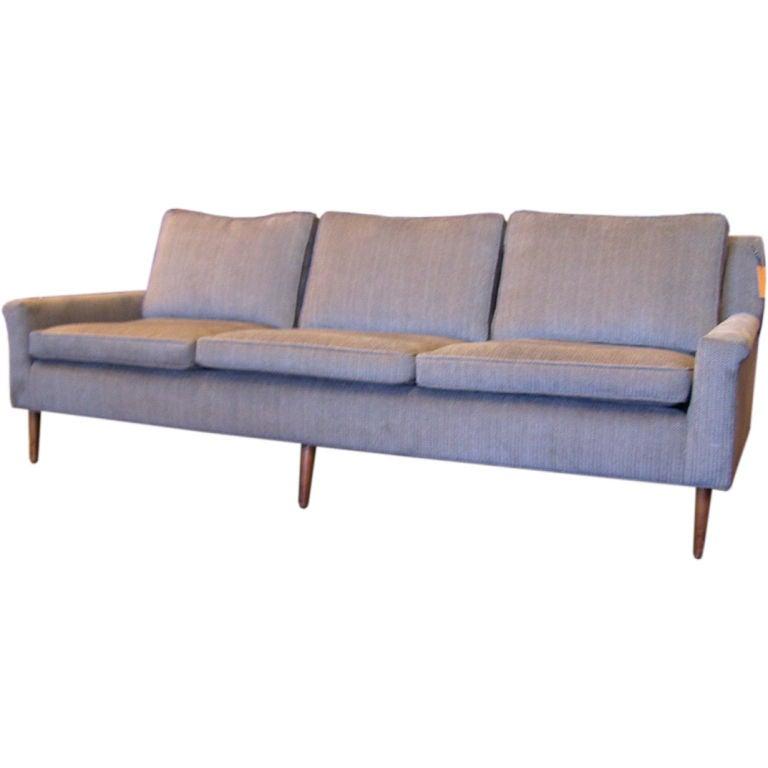 Sage green three seat sofa at 1stdibs for Sage green sectional sofa