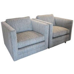 Pair of Cube Club Chairs