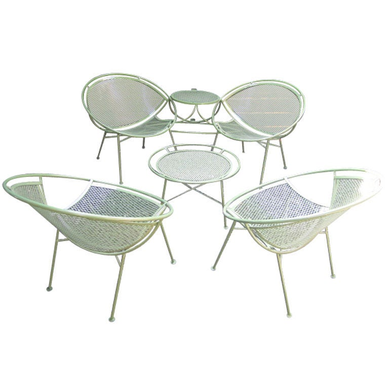 Set of outdoor furniture by Salterini at 1stdibs