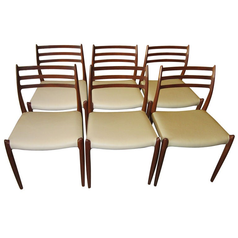 Set of Six Niels Moller No. 78 Teak Dining Chairs