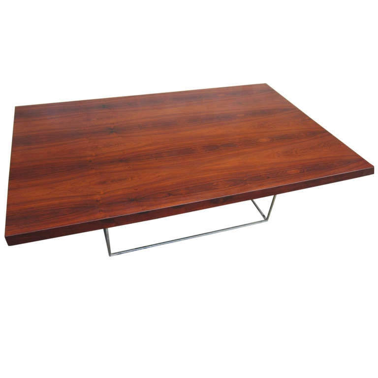 Beautiful Rosewood Coffee Table Designed By Milo Baughman At 1stdibs