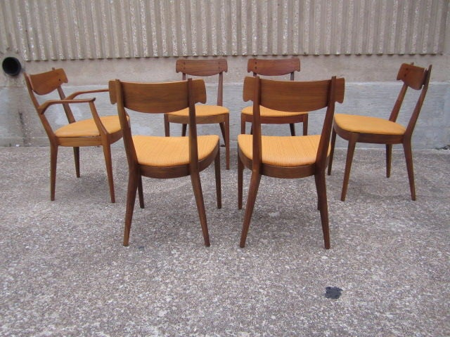 set of six dining chairs by kipp stewart for drexel at 1stdibs