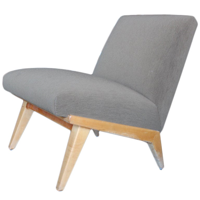 early jens risom slipper chair for knoll at 1stdibs
