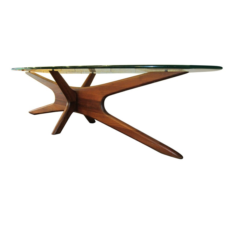 Surfboard Coffee Table By Adrian Pearsall At 1stdibs