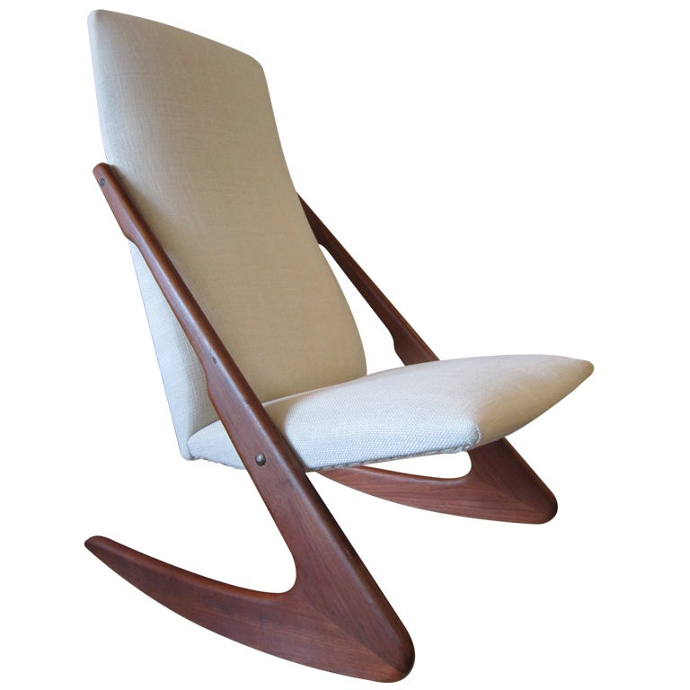 Armless Rocker Designed by Adrian Pearsall for Craft Associates at ...