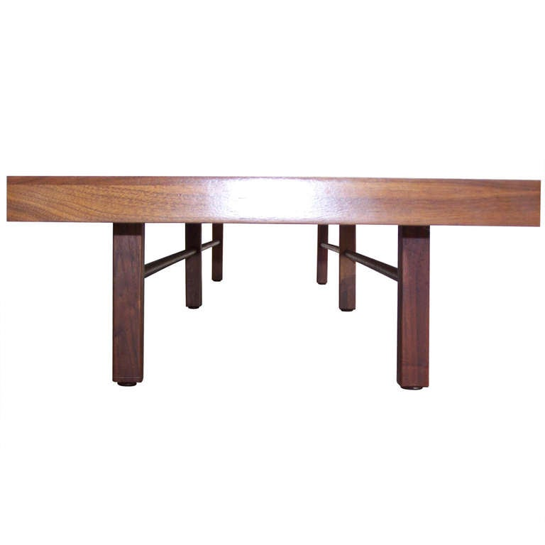 Long Low Coffee Table: Long Low Walnut Table Designed By Milo Baughman For Thayer