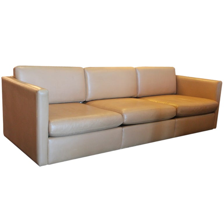 Leather Sofa By Charles Pfister For Knoll At 1stdibs