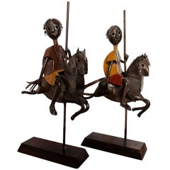 Pair of Carousel Sculptures by Manuel Felguerez