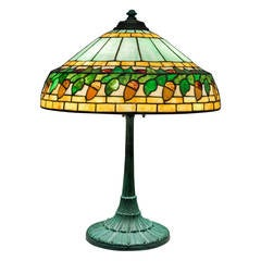 Leaded Glass Table Lamp by Wilkinson