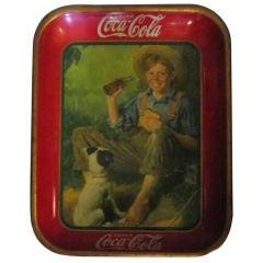 Original 1931 Coca-Cola Tray, Norman Rockwell Scene