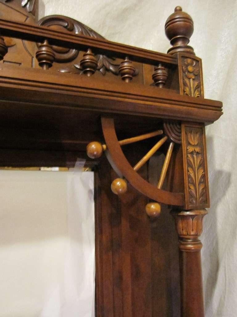 Victorian Aesthetic Fireplace Mantle w/Original Beveled ...