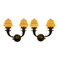 Pair of Edwardian Two-Arm Sconces