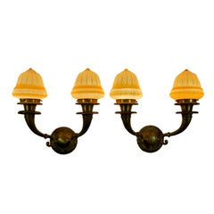 Pair of Edwardian Two-Arm Sconces ca. 1920's