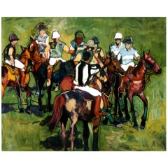 """Polo Playing"" by Rise Delmar Ochsner 1999"