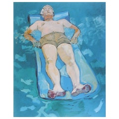 """Man on Raft"" by Rise Delmar Ochsner 1985"