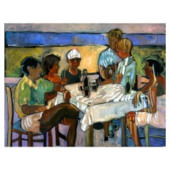 """The Greek Lunch"" by Rise Delmar Ochsner 1997"