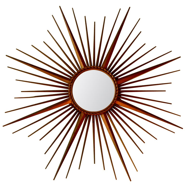 Signed chaty vallauris france sunburst mirror at 1stdibs for Chaty vallauris miroir