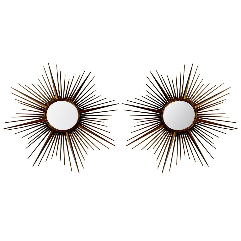 French Chaty Sunburst Mirrors For Sale
