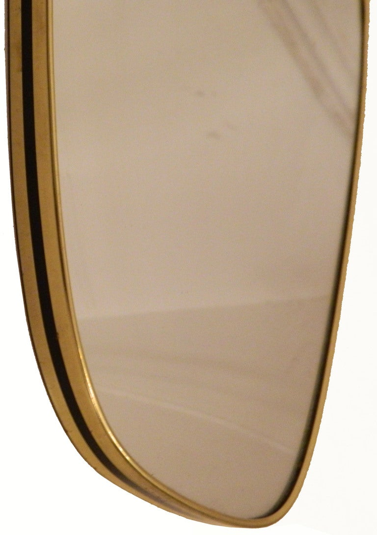 Midcentury French Mirror In Fair Condition For Sale In Miami, FL
