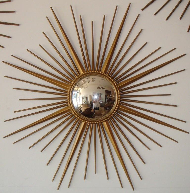 Signed chaty vallauris france sunburst mirror for sale at for Chaty vallauris miroir