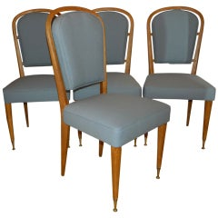 Set Of 4 Chairs By Jules Leleu thumbnail 1