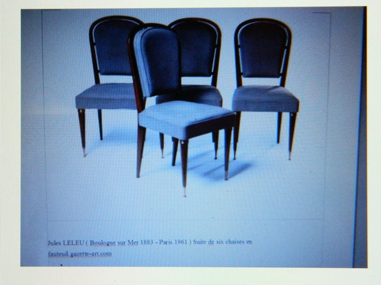 Set Of 4 Chairs By Jules Leleu For Sale 1