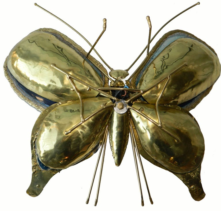 Butterfly Sconce / Table Lamp / Sculpture by Duval-Brasseur In Excellent Condition For Sale In Miami, FL