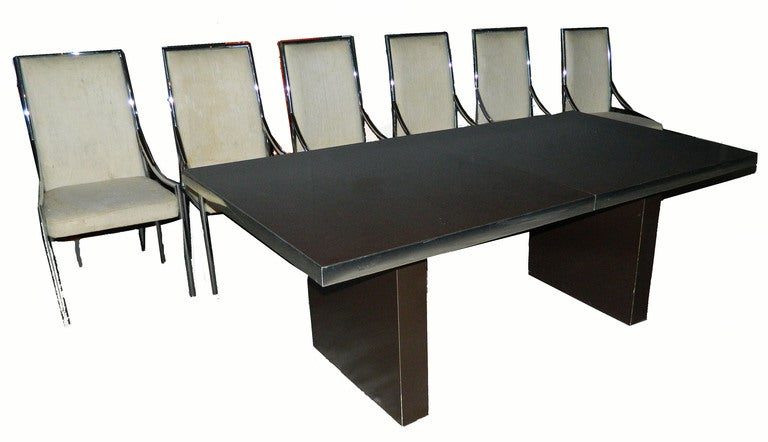 Signed huge Pierre Cardin Dining Table. 3