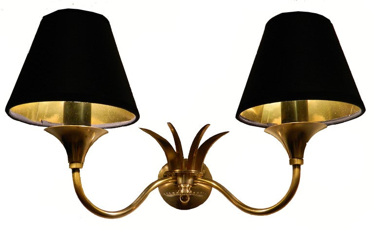 French Pair of Maison Jansen Sconces For Sale