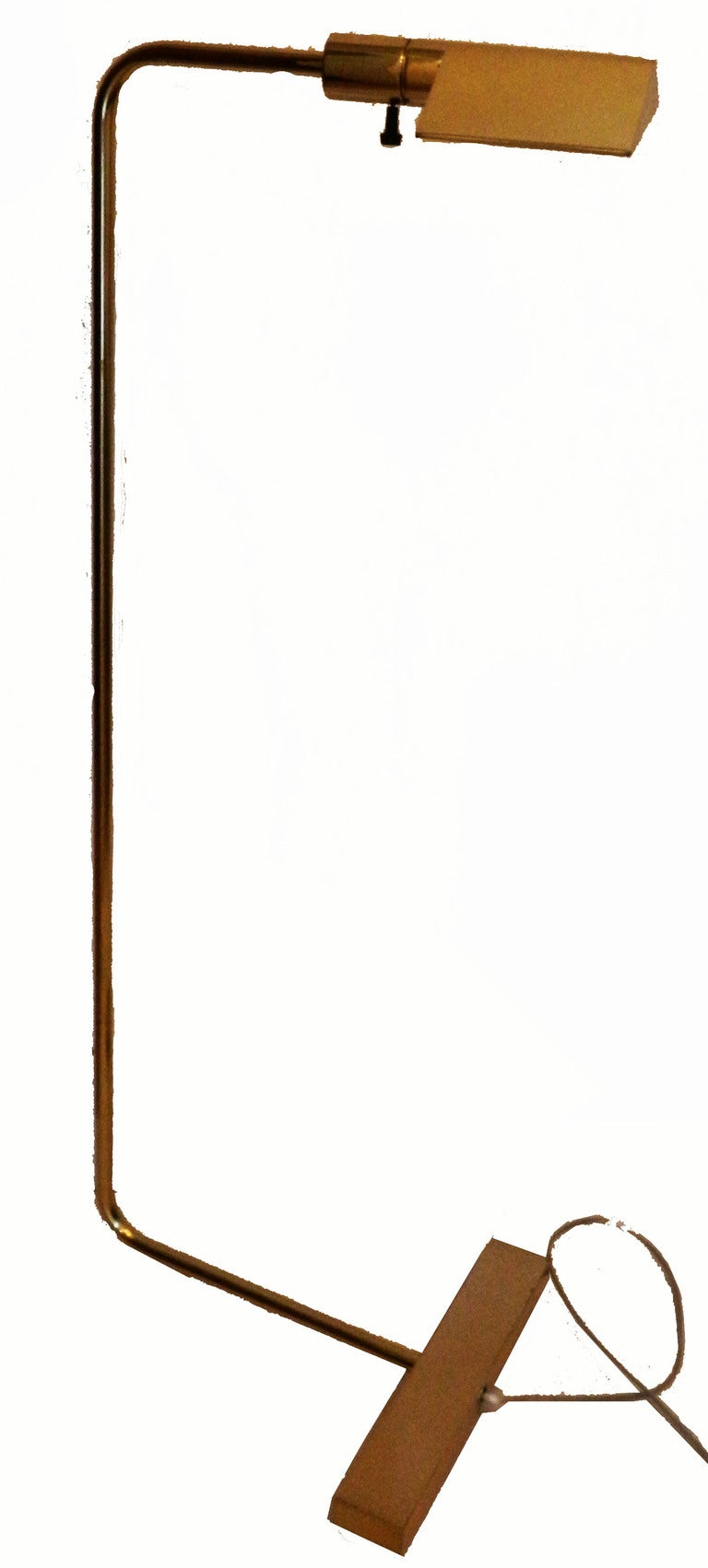 Exceptionnel pair of Floor lamp or table lamp by Cedric Hartman. 2 patina Brass and chrome. 100W/bulb US wired and in working condition.