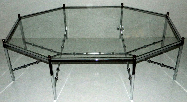 Mid-Century Modern Huge Octogonal Cocktail Table by Maison Jansen For Sale