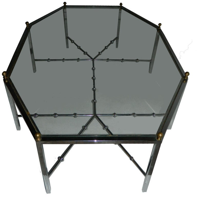 French Huge Octogonal Cocktail Table by Maison Jansen For Sale