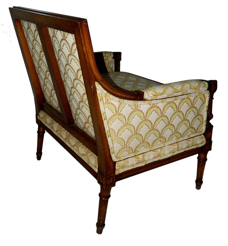 French SATURDAY SALE. Rare and Huge Bergere by Maison Jansen For Sale