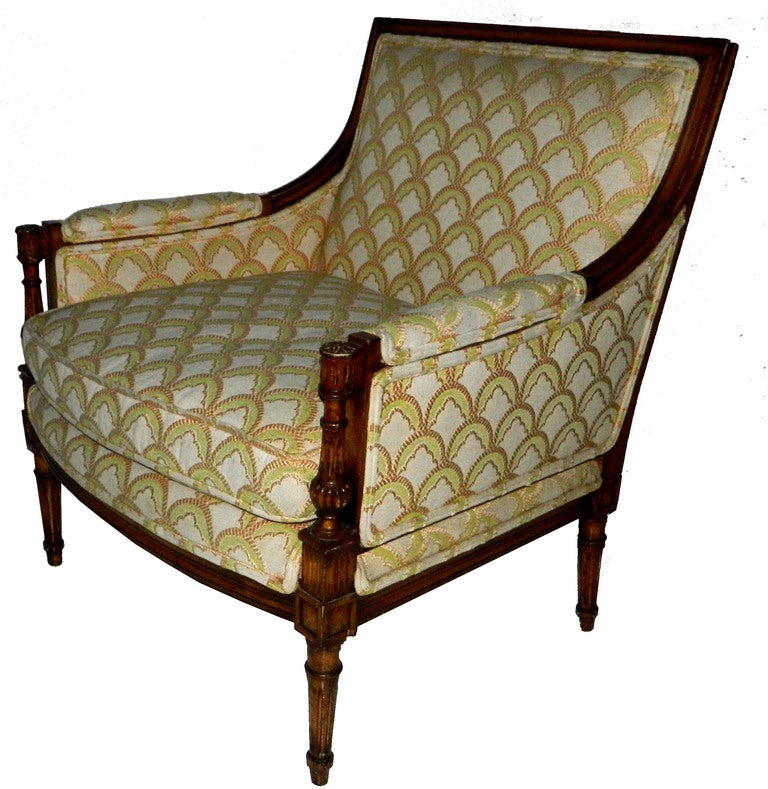 Louis XVI SATURDAY SALE. Rare and Huge Bergere by Maison Jansen For Sale