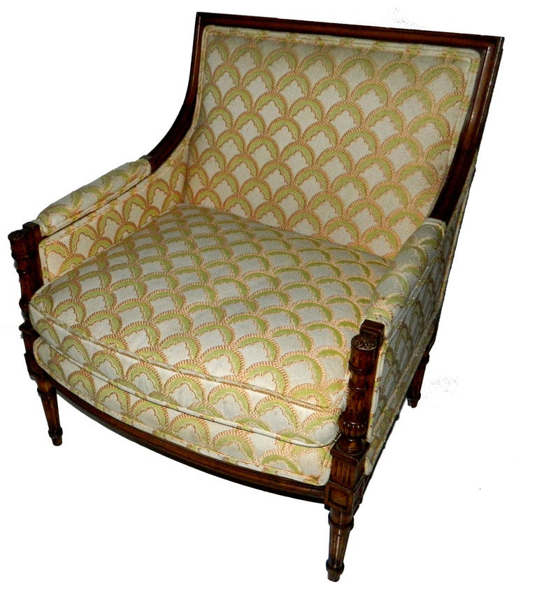 SATURDAY SALE. Rare and Huge Bergere by Maison Jansen In Excellent Condition For Sale In Miami, FL