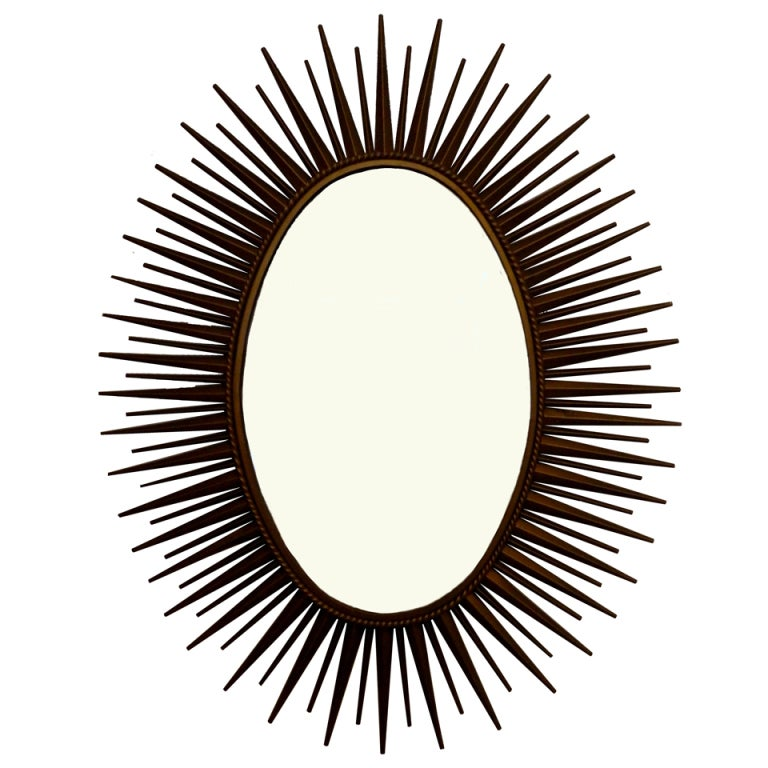 Signed Chaty Sunburst Mirror For Sale