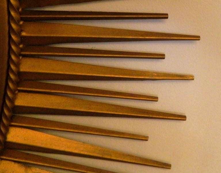 Mid-Century Modern Signed Chaty Sunburst Mirror For Sale