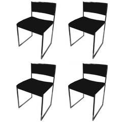 Set of Four Willy Rizzo Signed Chairs