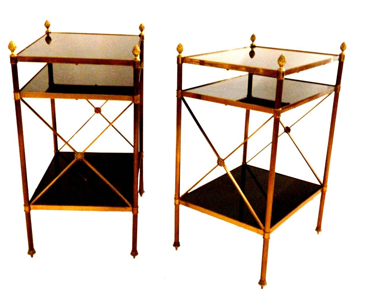 Pair Of Maison Jansen Side Tables, France At 1stdibs